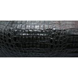 Skóra kajmana czarna hornback grzbiet
