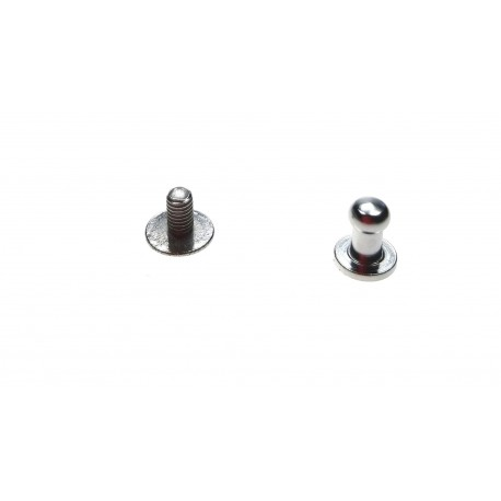 Knopik mosiężny niklowany 4,5mm