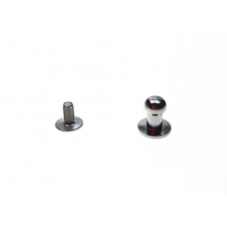 Knopik mosiężny niklowany 6mm