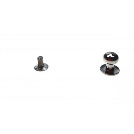 Knopik mosiężny niklowany 8mm