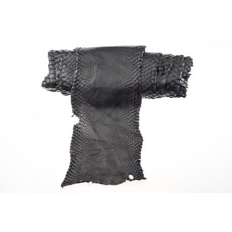 Skóra pytona ciemny brąz woskowany 2,79m