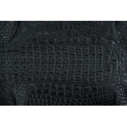 Skóra z grzbietu krokodyla czarna 28cm