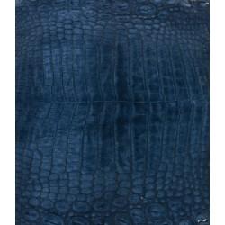 Skóra z brzucha krokodyla niebieska nubuk 38cm