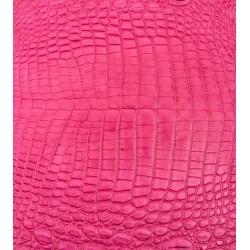 Skóra z brzucha krokodyla różowy 30cm
