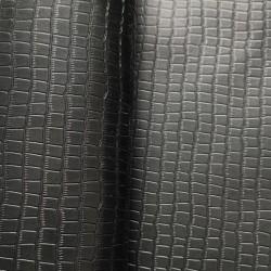 Kark bydlęcy licowy 2-2,4mm czarny krokodyl